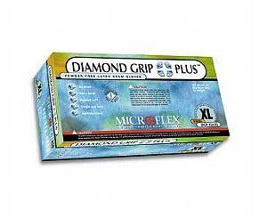 Diamond Grip Plus Latex Exam Gloves - Large , Box/100
