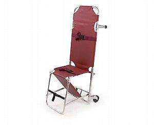 Model 107-B4 Combination Stretcher Chair - Burgundy