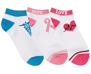 Fashion Socks, 3 Pack, Love and Hope, Print