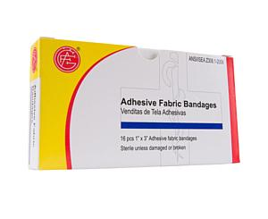 Fabric Bandages, 16 pcs, 1 X 3