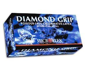 Diamond Grip Latex Exam Gloves - Medium , Box/100