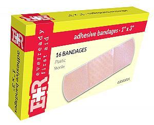 """Adhesive Bandages, 1"""" x 3"""", 16's"""