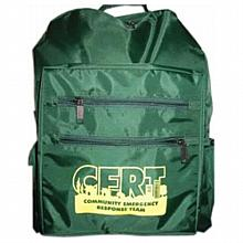 C.E.R.T. green cordura backpack (Package of 2)