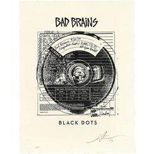 """Obey Giant """"Bad Brains Black Dots"""" Signed Letterpress"""