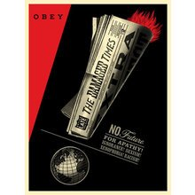 "Obey Giant ""Damaged Times"" Signed Screen Print"