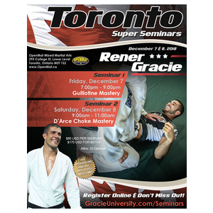 Toronto Super Seminar Bundle with Rener Gracie (12/7/18 & 12/8/18)
